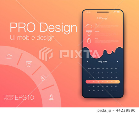 Date application UI design concept stock vector 44229990