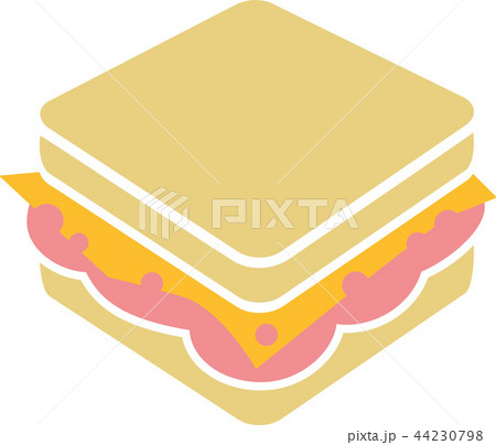 Sandwich with cheese and ham 44230798