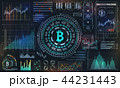 Bitcoin with HUD Elements, BTC, Bit Coin, Virtual Money, Crypto Currency 44231443