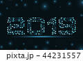 Text 2019 Made in Circuit Texture, Template for Happy New Year 44231557