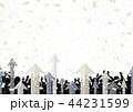 矢印 人物 紙吹雪 44231599