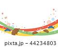 年賀状 亥年 亥のイラスト 44234803