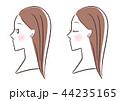 女性 横顔 セット 44235165