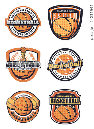 Basketball sport game symbols or icons with ball 44235942