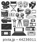 ムービー 映画 アイコンのイラスト 44236011