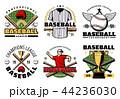 スポーツ ベースボール 白球のイラスト 44236030
