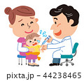 予防接種 親子 乳幼児 イラスト  44238465