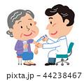 予防接種 注射 高齢者のイラスト 44238467