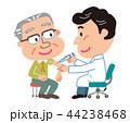 予防接種 高齢者 男性 イラスト  44238468