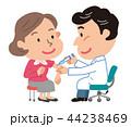 予防接種 中年女性 イラスト  44238469
