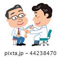 予防接種 中年男性 イラスト  44238470