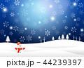 雪 冬 クリスマスのイラスト 44239397