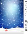 雪 冬 クリスマスのイラスト 44239401