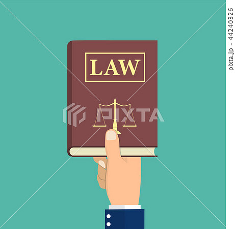 Judge, lawyer holding Law book in hand. 44240326