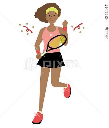 女性テニスプレイヤー 44241147