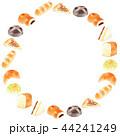 フレーム パン 水彩のイラスト 44241249