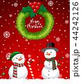 クリスマス 赤 メリーのイラスト 44242126