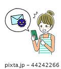 スマートフォン 女性 ベクターのイラスト 44242266