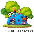 遊び場 子ども パークのイラスト 44242434