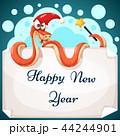 ヘビ 蛇 へびのイラスト 44244901