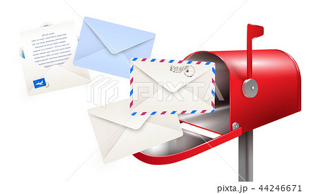 Post Mailbox Letters Composition 44246671