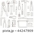 工具セット 線画 44247909