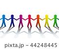 虹色のダイバーシティ、多様性のイメージ 44248445