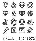 ダイヤモンド ジュエル 宝石のイラスト 44248972