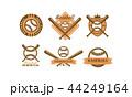 ベースボール 白球 野球のイラスト 44249164