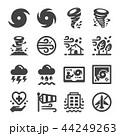 アイコン 嵐 暴風雨のイラスト 44249263