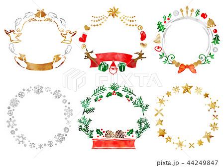 クリスマスフレーム1 水彩 44249847