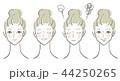 ベクター 女性 顔のイラスト 44250265