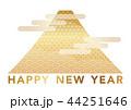 富士山 年賀状素材 和柄のイラスト 44251646