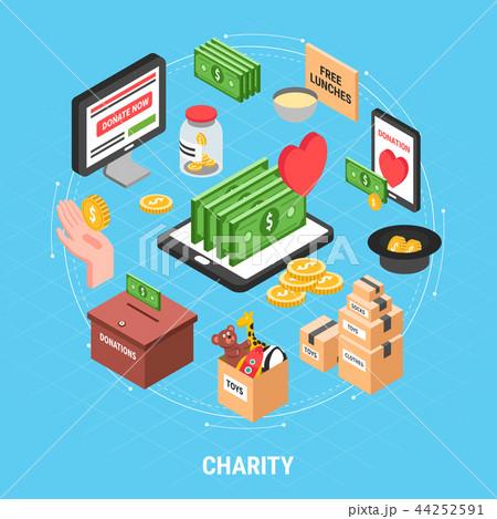 Charity Isometric Design Concept 44252591