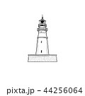 Lighthouse icon. Nautical symbol tower 44256064