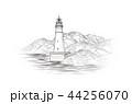 Lighthouse seascape. Seaside view. Landscape 44256070