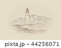 Lighthouse seascape. Seaside view. Landscape 44256071