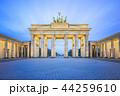 The Brandenburg Gate monument at night in Berlin 44259610