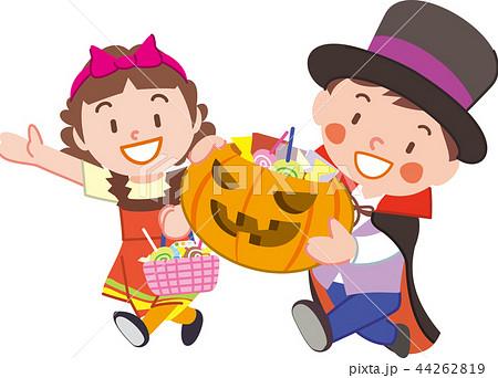 お菓子をもらう子供 44262819