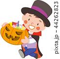 お菓子をもらう男の子 44262823