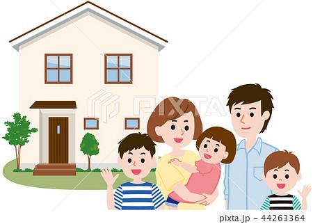 マイホーム 家族 44263364