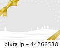 雪 冬 リボンのイラスト 44266538