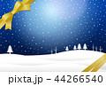 雪 冬 リボンのイラスト 44266540