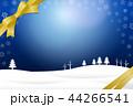 冬 リボン 背景のイラスト 44266541