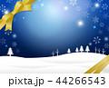 雪 冬 リボンのイラスト 44266543