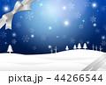 冬 リボン 背景のイラスト 44266544