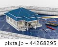 工事 住宅 構築のイラスト 44268295