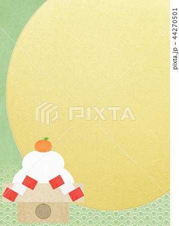和-和風-和柄-和紙-背景-鏡餅-金箔-正月 44270501