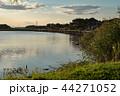 桟橋のある沼の風景 44271052