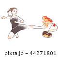 ダイエット女性 44271801